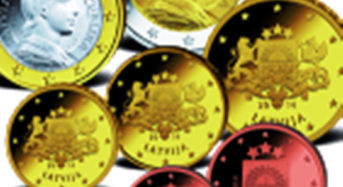 Jetzt tauschen statt kaufen! Der erste Kursmünzensatz Lettlands