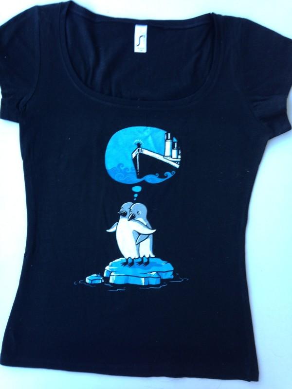 T-Shirt von Kater Likoli The Penguine Titanic