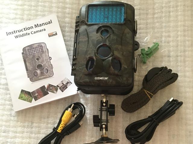 Wildkamera CCbetter 2,4 Zoll 12 Megapixel der gesamte Lieferumfang
