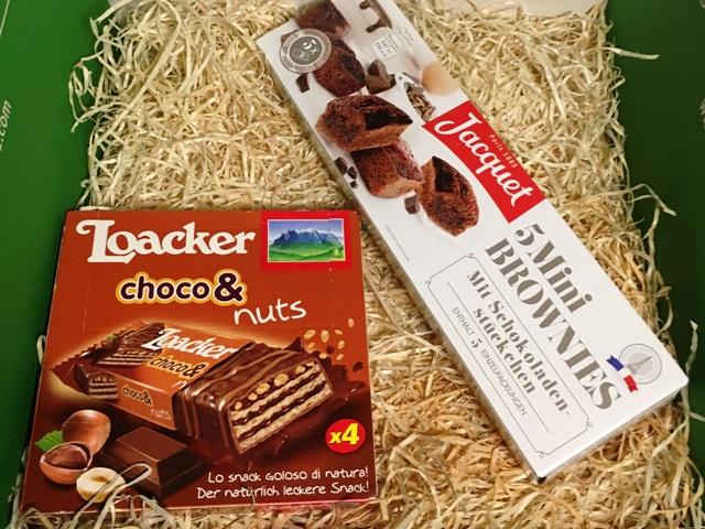 Loacker choco& nuts und Jacquet Mini Brownies