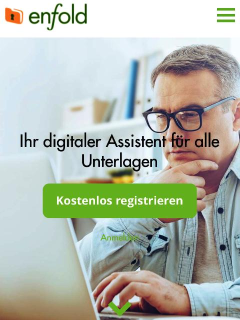 enfold der digitale Dokumentenmanager, Startseite