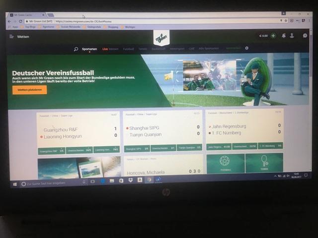 Sportwetten mit Mr Green - Anzeige