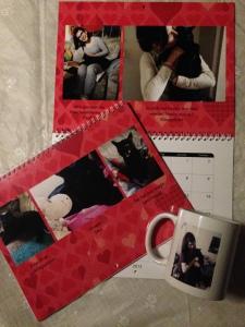 Mein Snapfish Fotokalender und Tasse