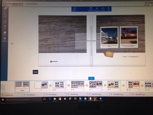 Erstellung des Fotobuches von Smartphoto
