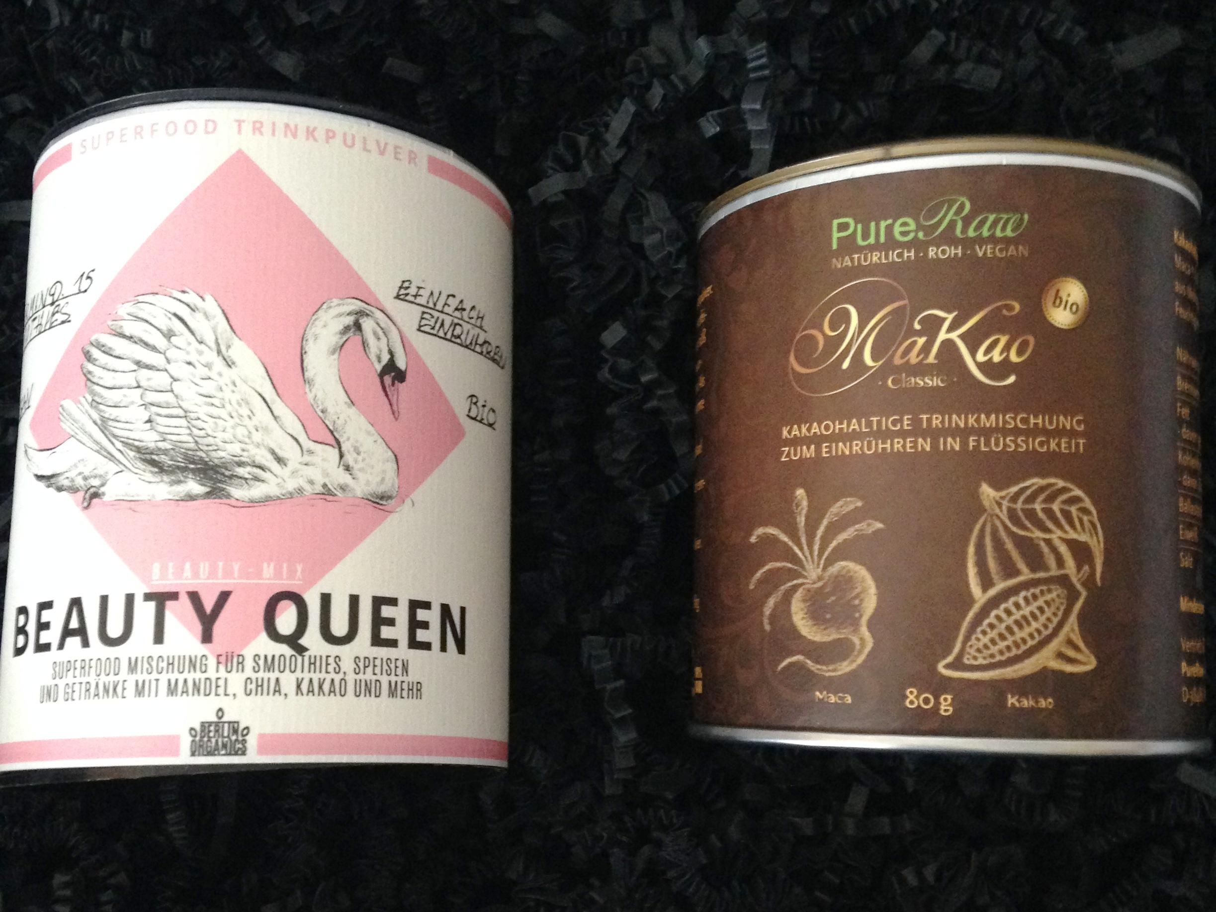Beauty Queen und Makao Classic-Trinkschokolade