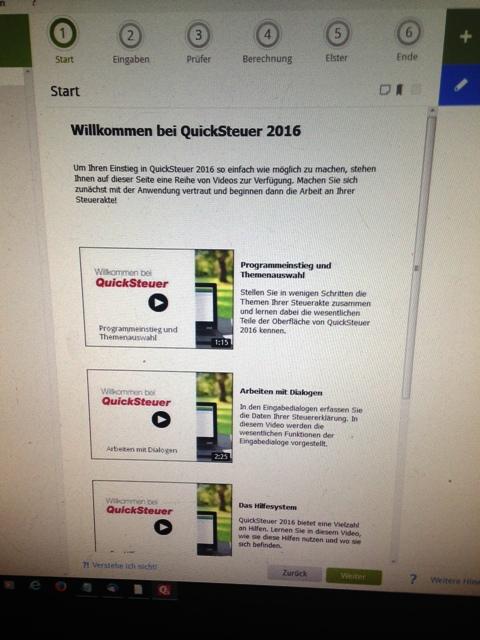 Lexware QuickSteuer 2016: Progammstart