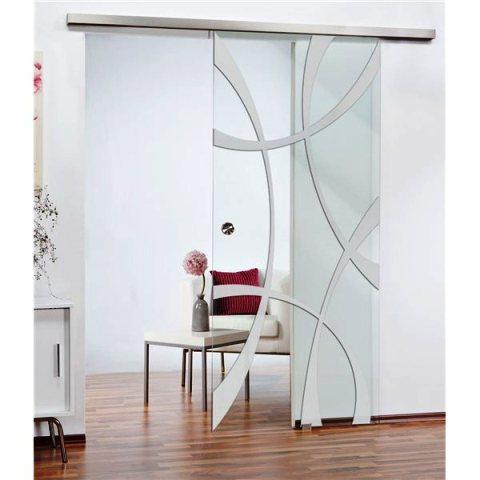 Schiebetüren aus Glas setzen Akzente. Quelle: Glastuershop24.de