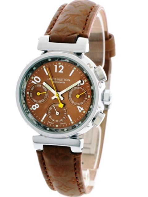 Replica Uhren von guter Qualität: louis_vuitton_chrono_brownziffer_lady