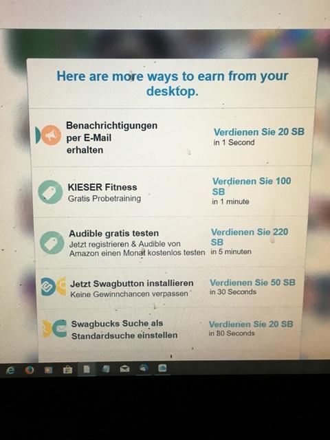 Geld zurück erhalten mit Swagbucks