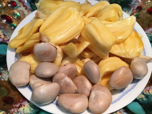 Jackfruit, die Kerne