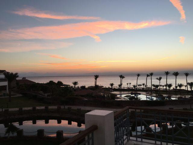 Urlaub im Oktober 2018, Sonnenaufgang, Ägypten, Dahab, Ecotel