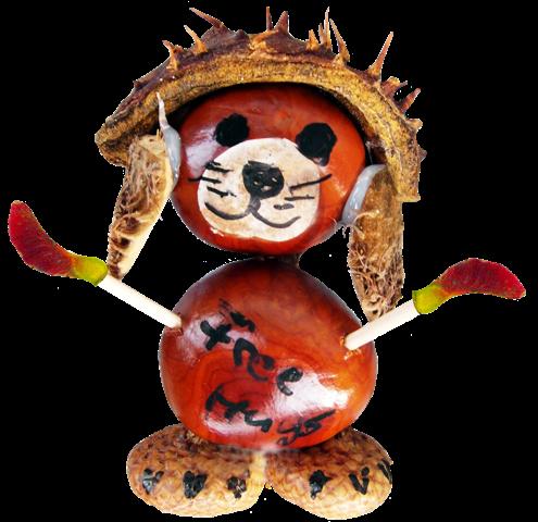 Basteln mit Kindern, Kastanienmännschen, Quelle: pixabay