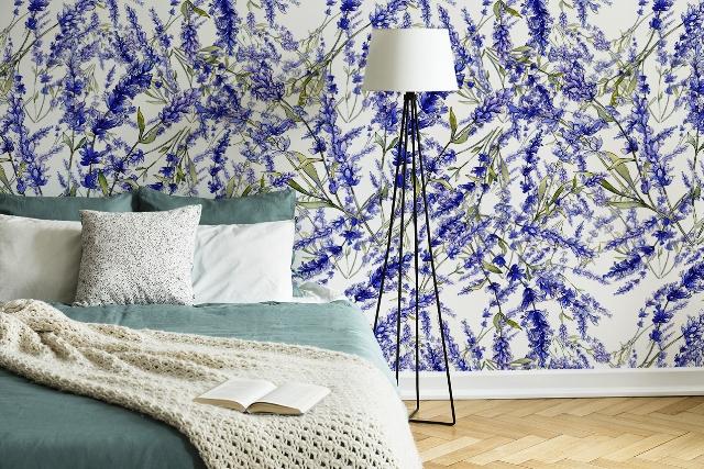 Fototapete Lavendel im Schlafzimmer, Quelle: myloview.de