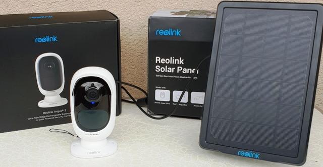 Garten Überwachungskamera, Reolink Überwachungskamera Argus 2 + Solarpanel
