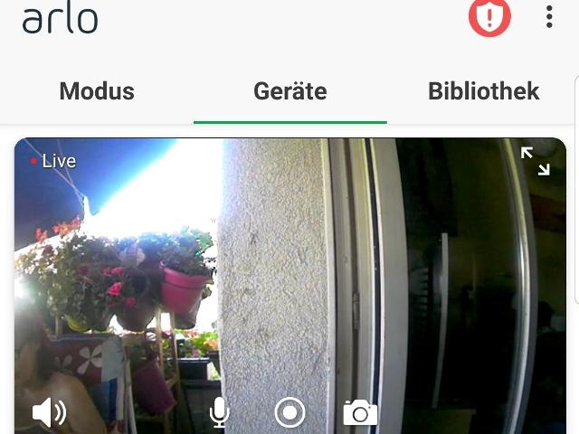 Arlo Go, App von Netgear, Aufnahme