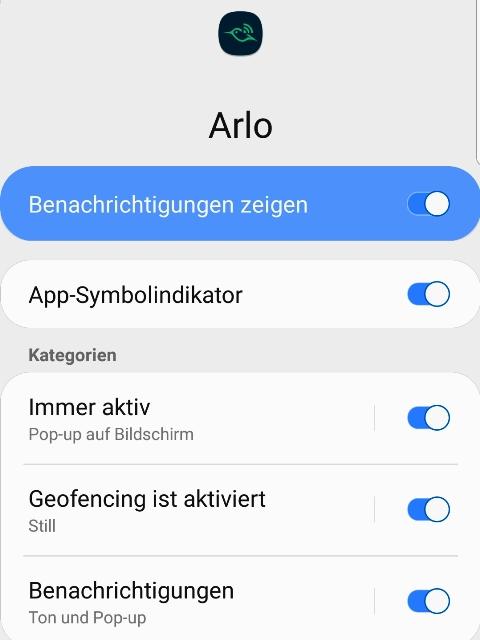 Arlo Go, App von Netgear